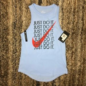 "Nike Just Do It ""Repeat"" Graphic Jersey Tank"